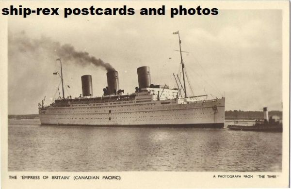 EMPRESS OF BRITAIN (1931, Canadian Pacific) postcard (d)